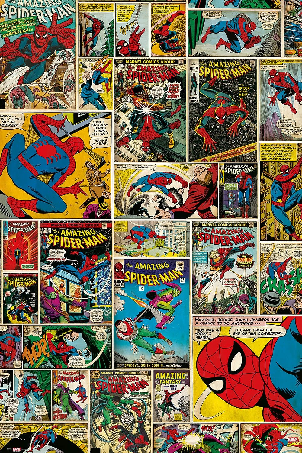 Home affaire, Deco Panel »Marvel - Spiderman Comic Covers«, 60/90 cm