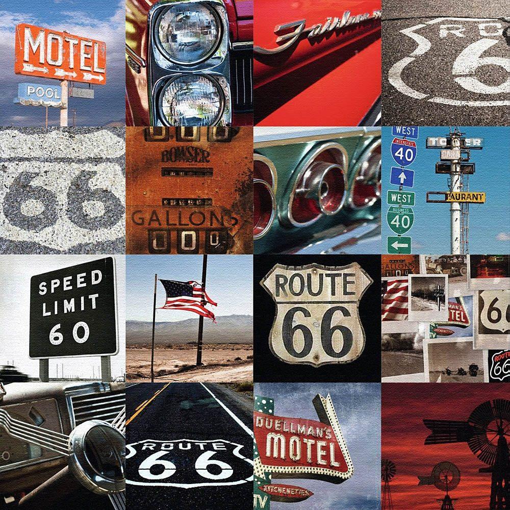 Home affaire, Deco Block »Route 66 - Mozaik II«, 40/40 cm