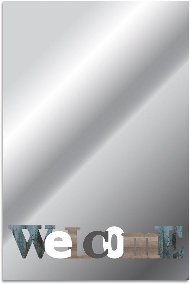 Home affaire, Spiegel, »Welcome«, 40/60 cm in bunt