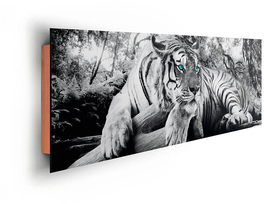 home affaire deco panel tiger guckt dich an 156 52 cm online kaufen otto. Black Bedroom Furniture Sets. Home Design Ideas