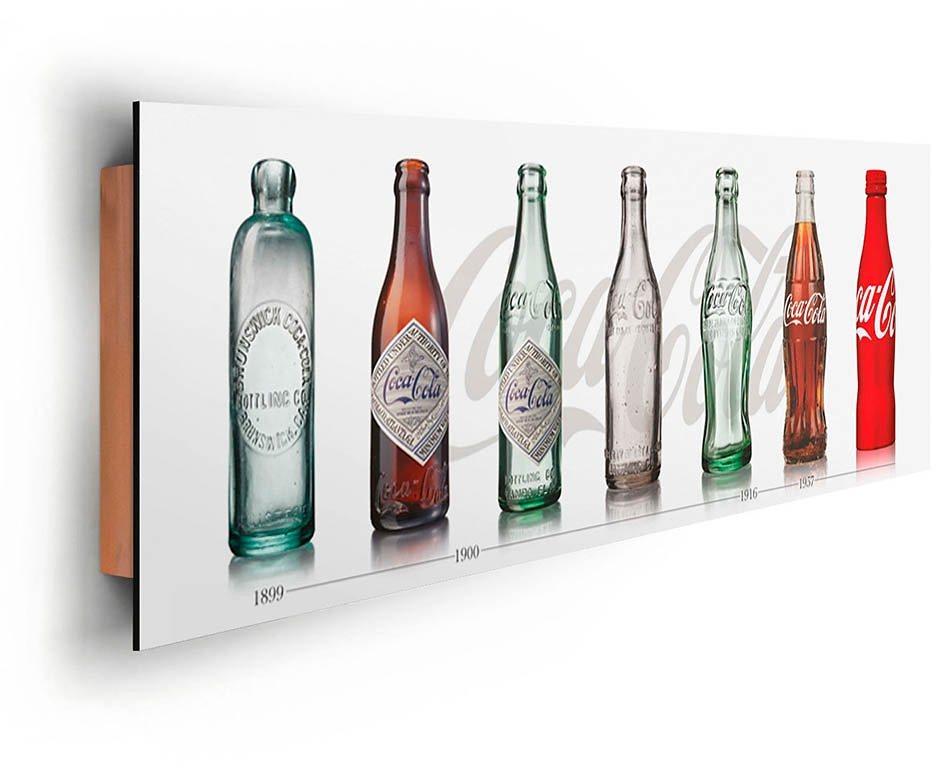 Home affaire, Deco Panel »Coca-Cola - Flaschen Evolution«, 90/30 cm in bunt