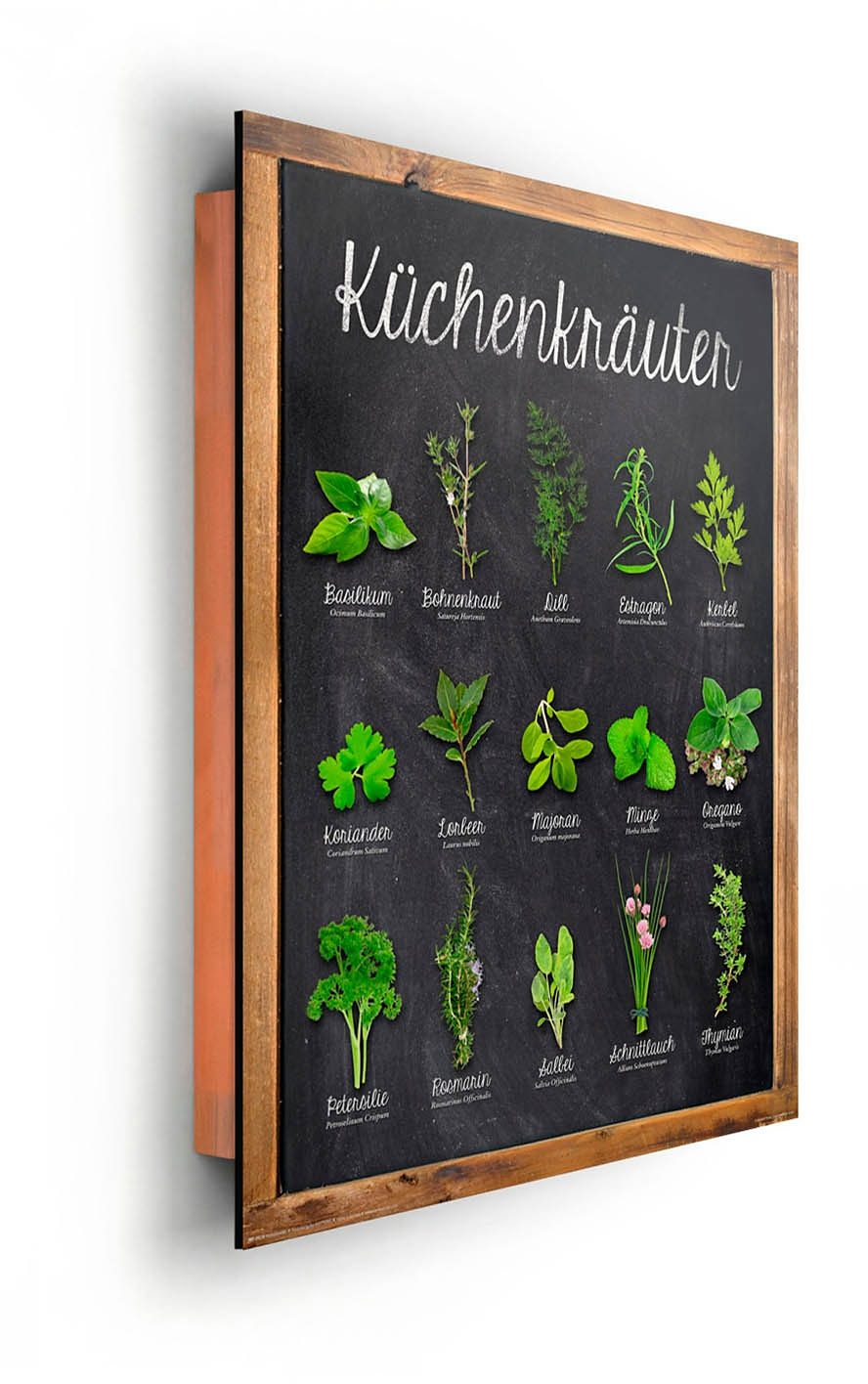 Home affaire, Deco Panel »Küchenkräuter« 40/50 cm
