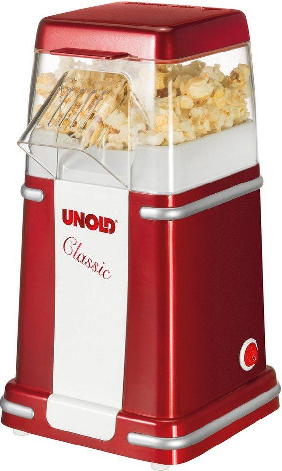 Unold Popcornmaker Classic, 900 Watt, rotmetallic/weiß in rotmetallic/weiß