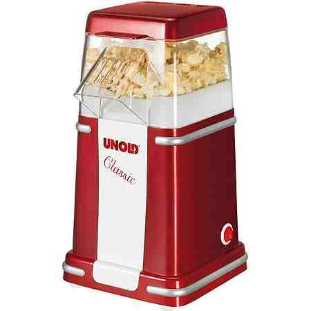 Unold Popcornmaker Classic, 900 Watt, rotmetallic/weiß