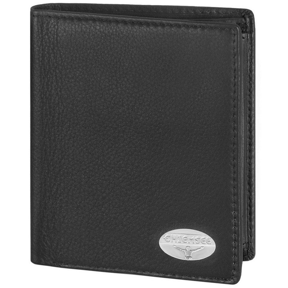 Chiemsee Authentic Geldbörse Hochformat Leder 10 cm mit Klappfach in black