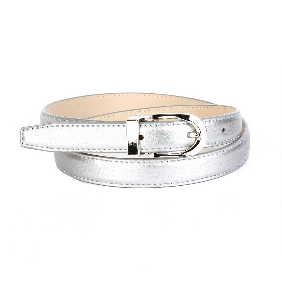 Anthoni Crown Ledergürtel in Silber