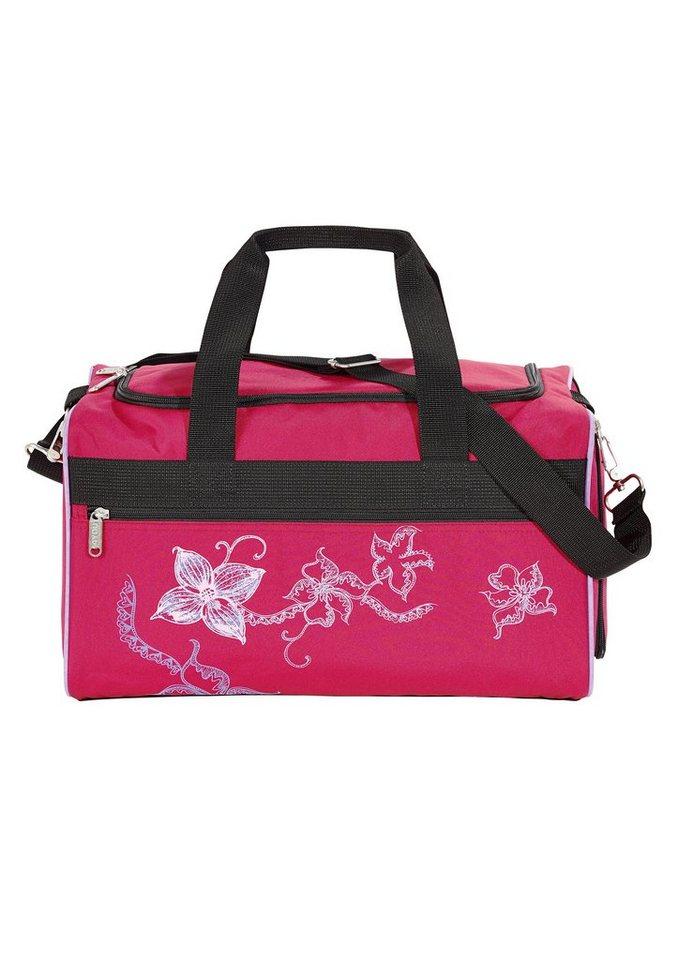 4YOU Taschen, »Freizeittasche M - Flower Lace« in rot