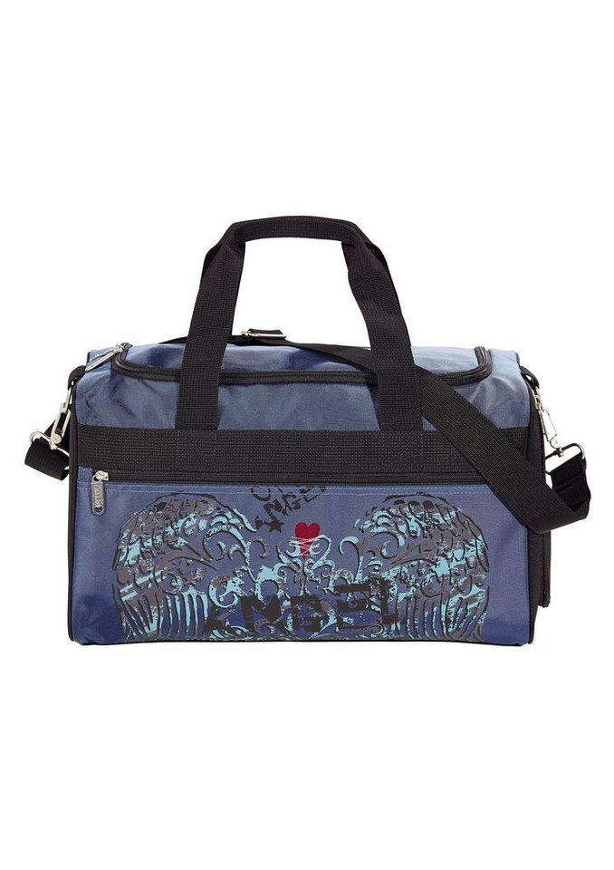 4YOU Tasche, »Freizeittasche M - Angel Heart« in blau