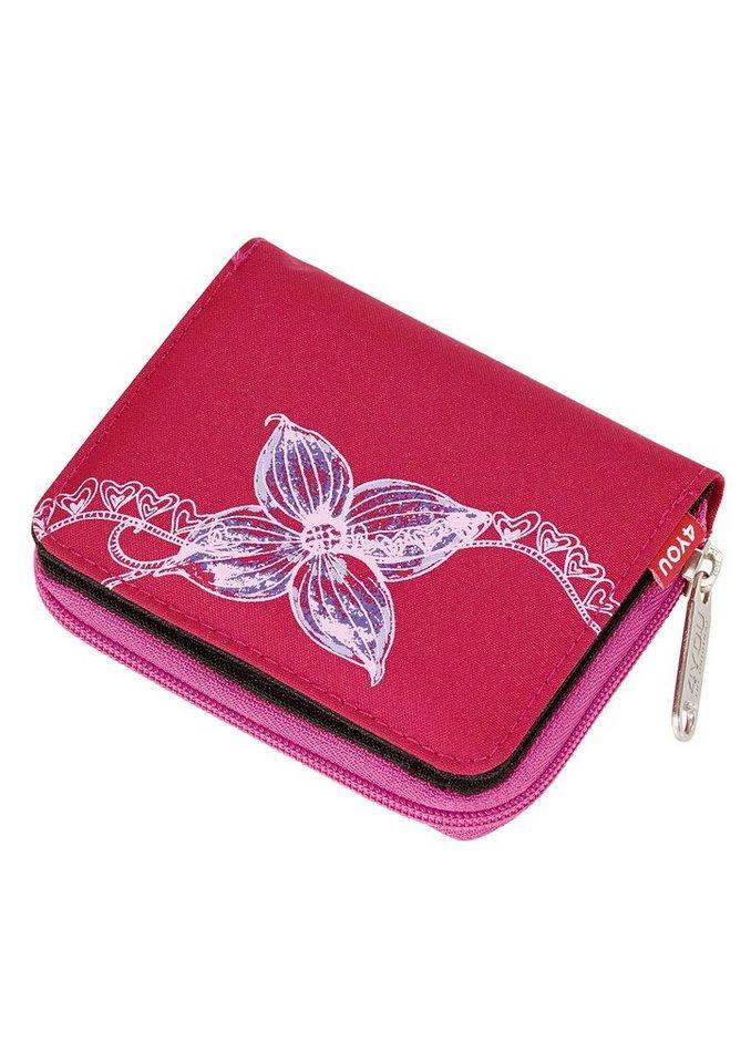 4YOU Geldbörse, »Zipper Wallet - Flower Lace« in rot