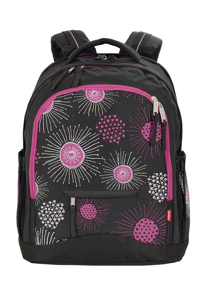 4you schulrucksack rucksack compact xray flower online kaufen otto. Black Bedroom Furniture Sets. Home Design Ideas