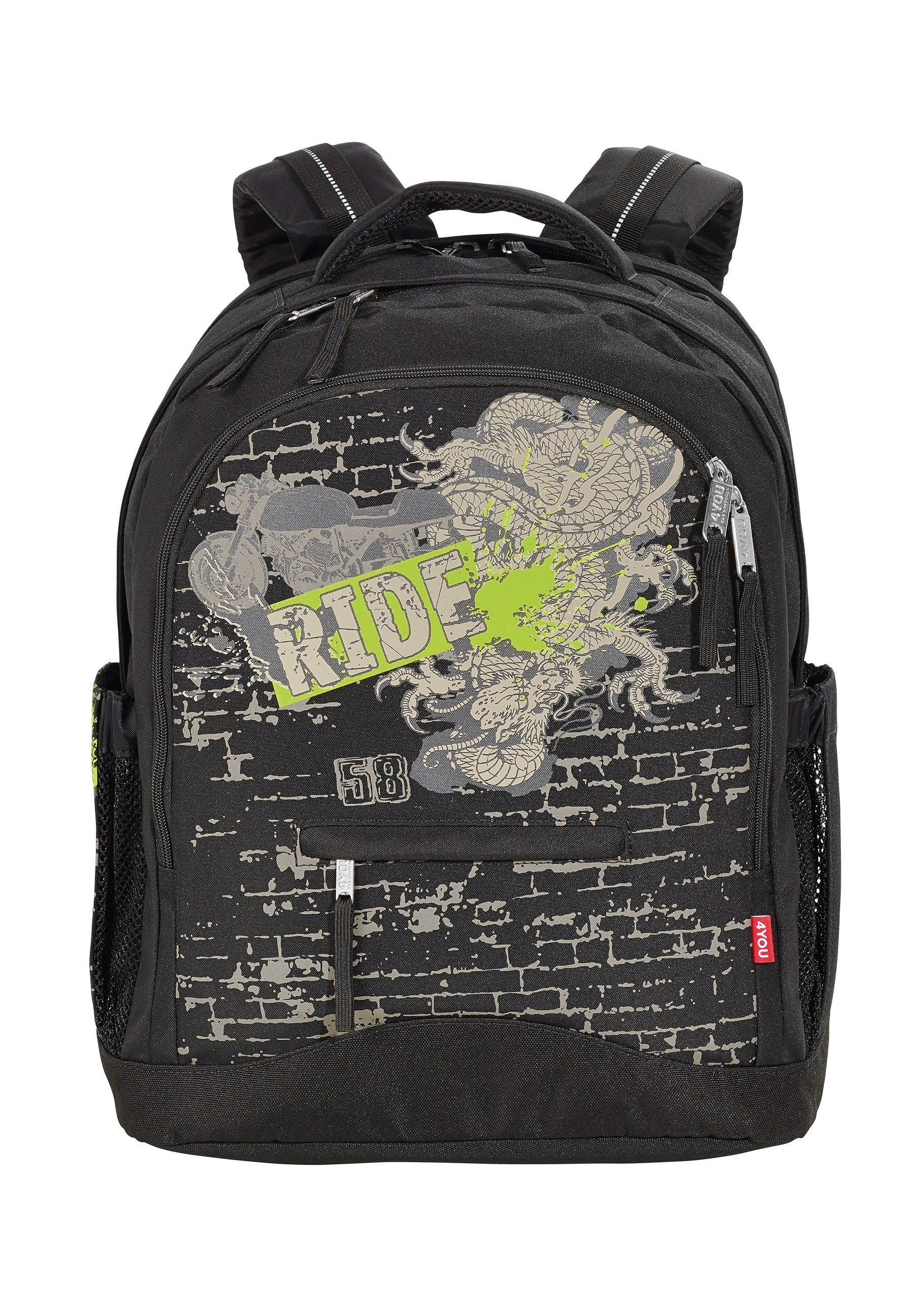 4YOU Schulrucksack, »Rucksack Compact - Ride«