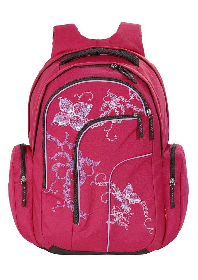 4you schulrucksack rucksack move flower lace otto. Black Bedroom Furniture Sets. Home Design Ideas