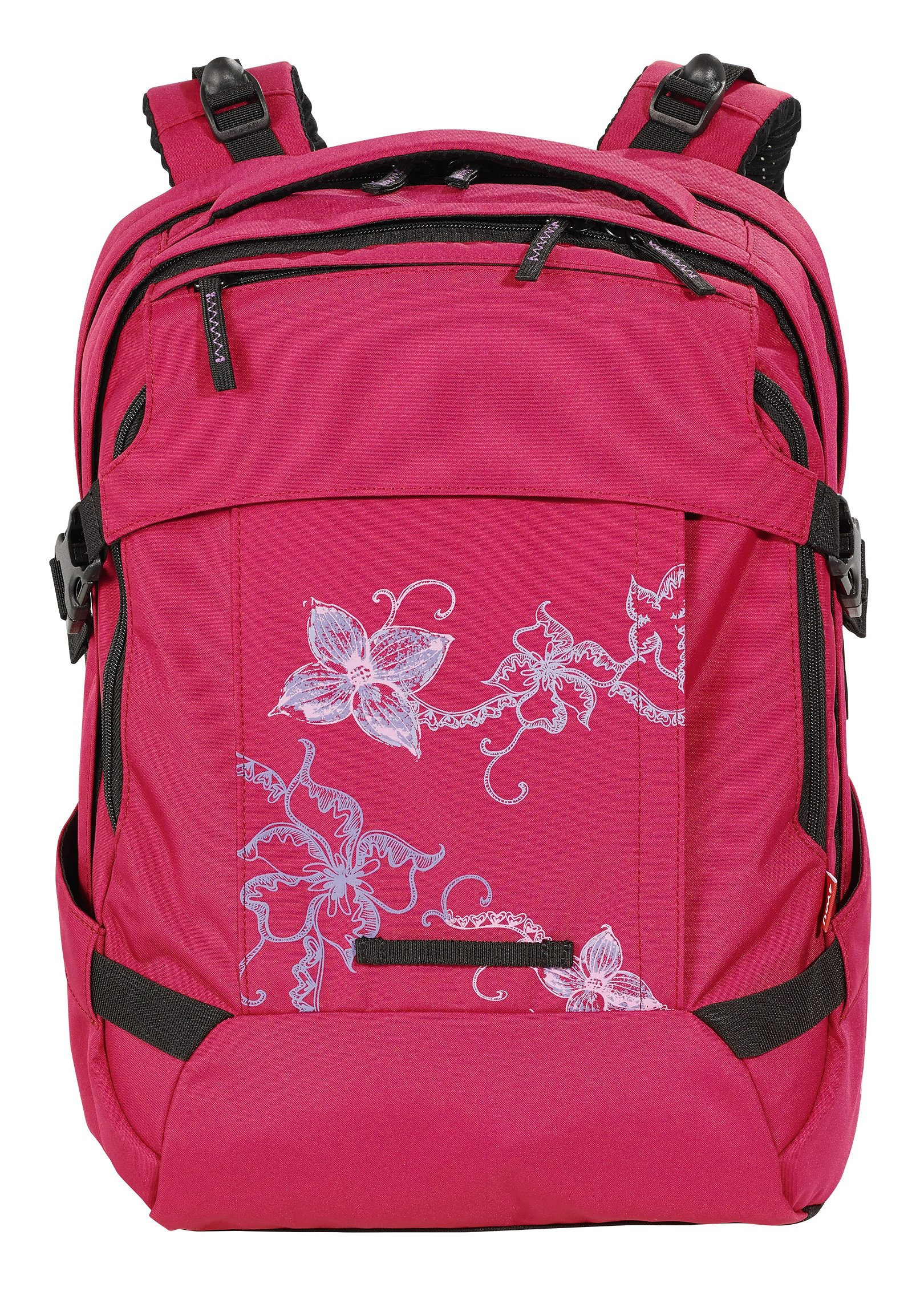 4YOU Schulrucksack, »Tight Fit - Flower Lace«