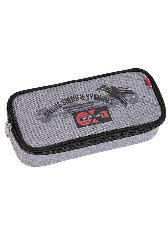 4YOU Mäppchen mit Geodreieck®, »Pencil Case - Ethno« in grau