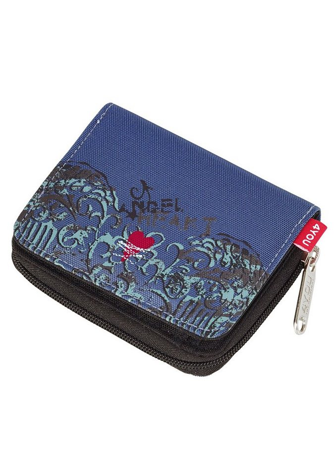 4YOU Geldbörse, »Zipper Wallet - Angel Heart« in blau