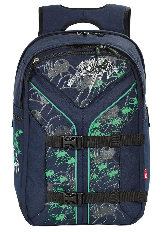 4YOU Schulrucksack, »Rucksack Boomerang Sport - Spider« in blau
