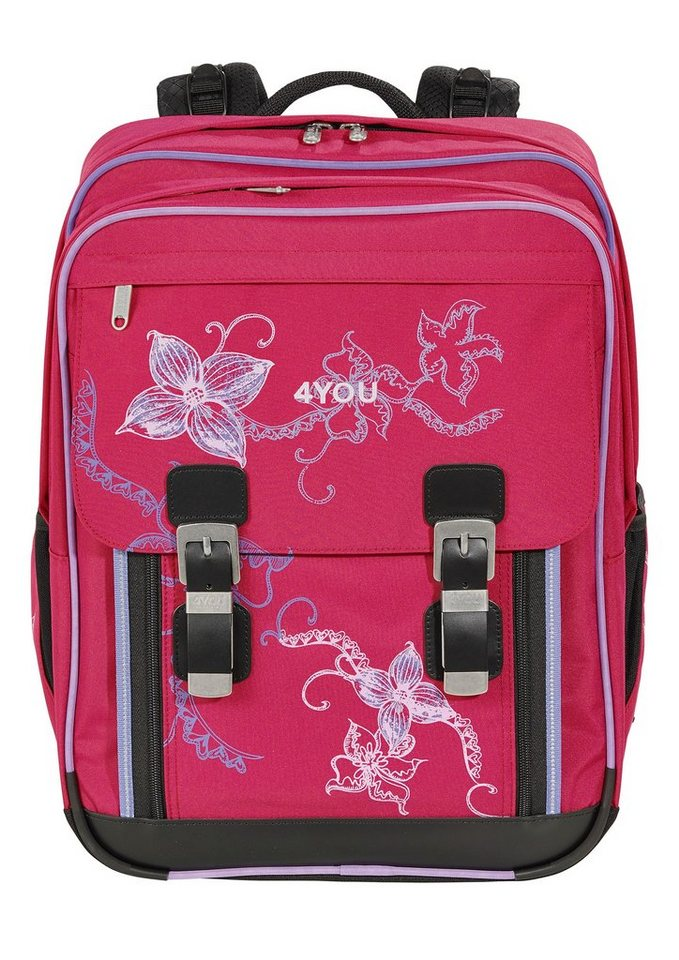 4you schulrucksack rucksack classic plus flower lace. Black Bedroom Furniture Sets. Home Design Ideas