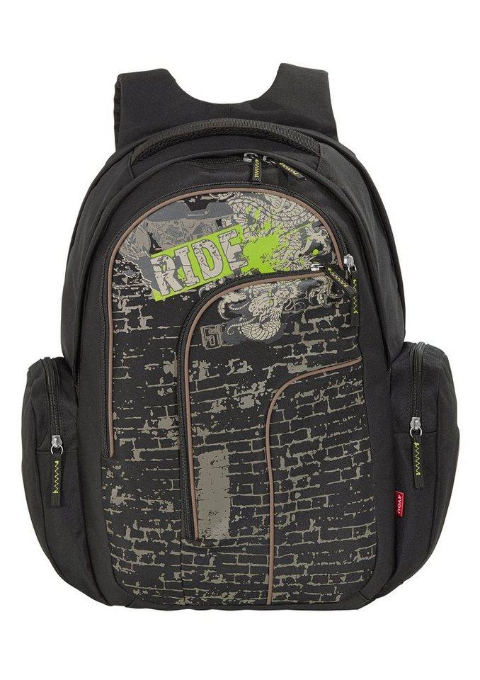 4YOU Schulrucksack, »Rucksack Move - Ride« in schwarz