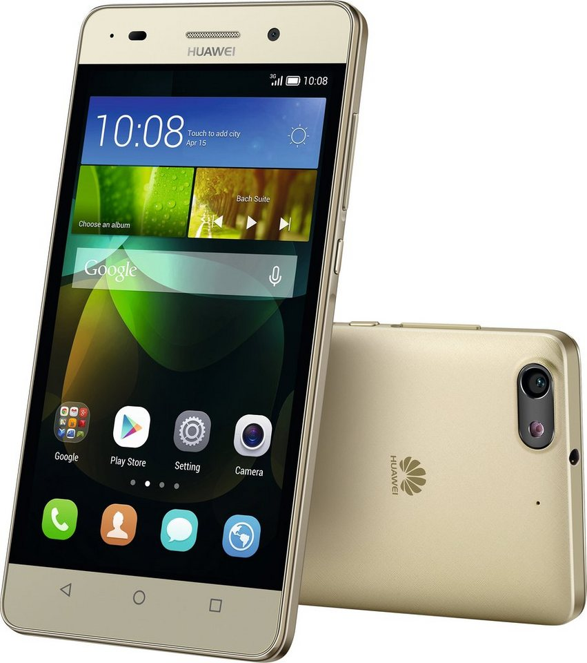 Huawei G PLAY mini Smartphone, 12,7 cm (5 Zoll) Display, Android 4.2.2, 13,0 Megapixel in goldfarben