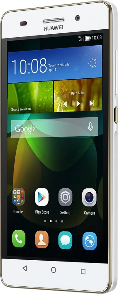 Huawei G PLAY mini Smartphone, 12,7 cm (5 Zoll) Display, Android 4.2.2, 13,0 Megapixel in weiß