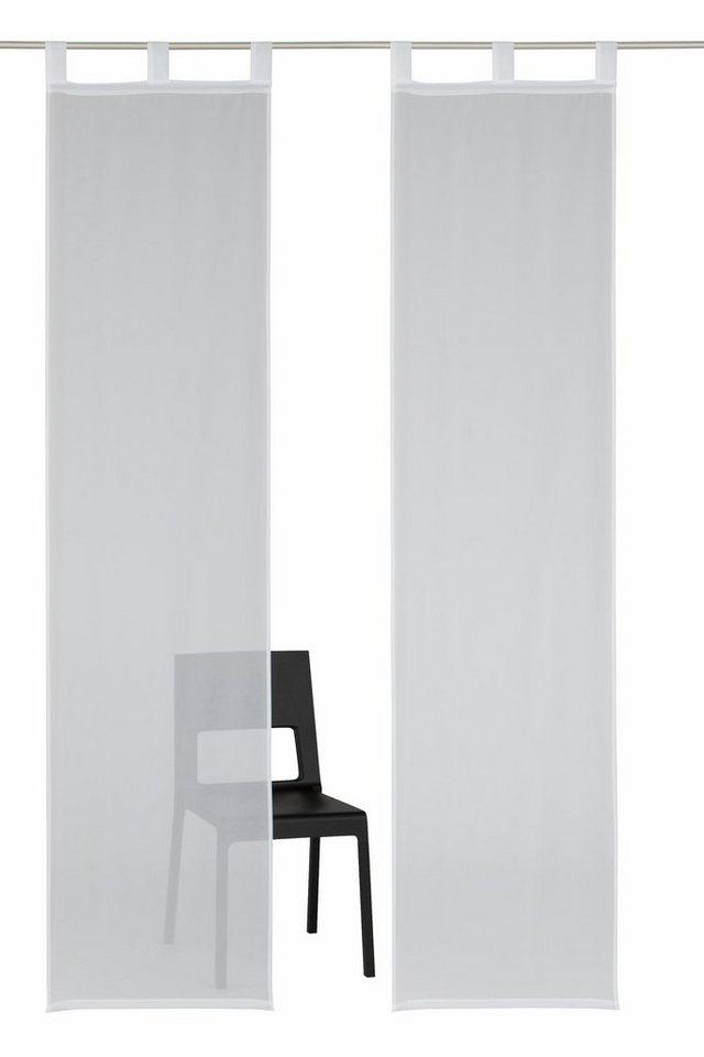 Schiebegardine, my home, »Neves« (2 Stück mit Zubehör) in weiß