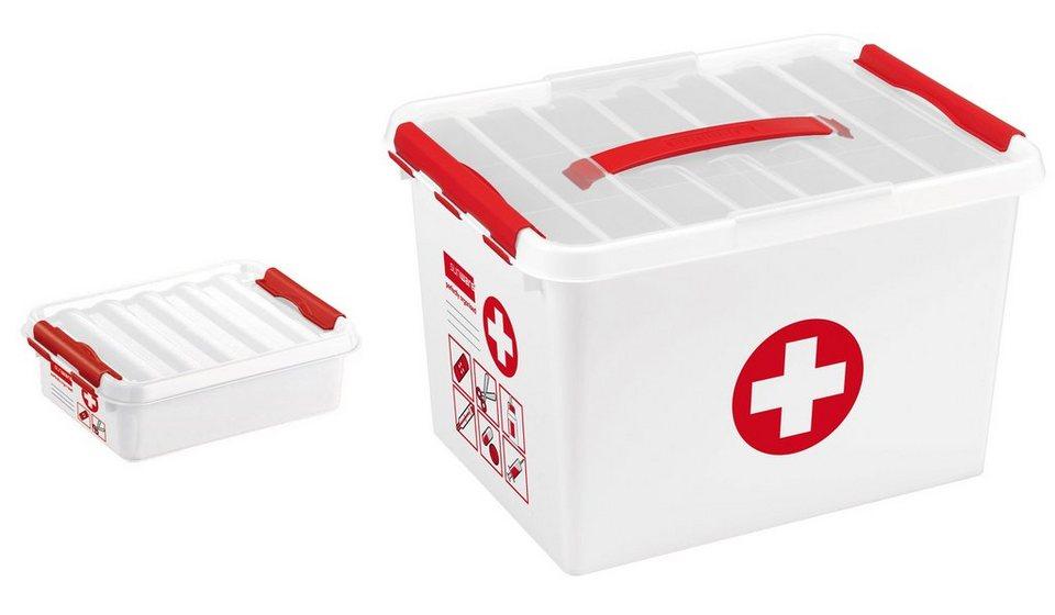 Sunware Erstehilfebox »22 & 1 Liter«, 2er Set in weiß