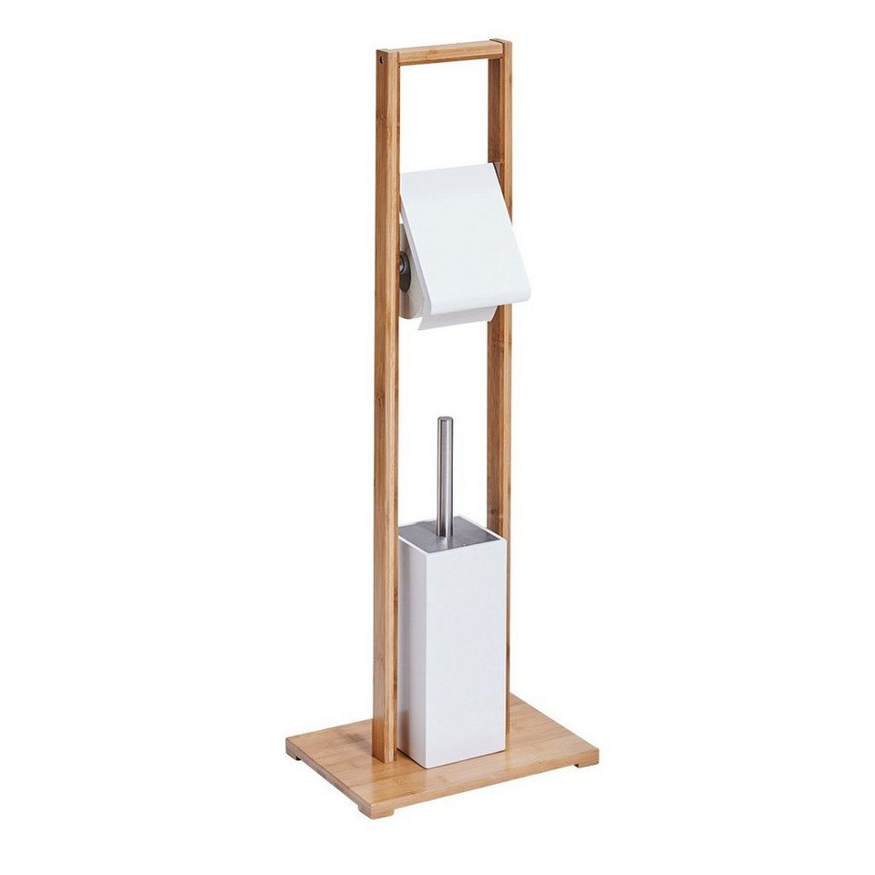 WC-Garnitur »Bamboo« in eichefarben/weiß
