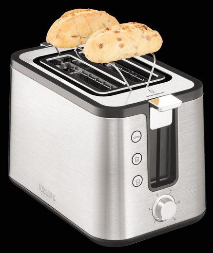 Krups Toaster KH442, 2 kurze Schlitze, für 2 Scheiben, 850 W