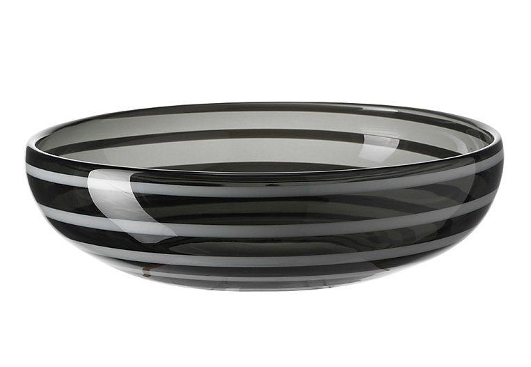 LEONARDO Schale »Rialto«, Glas in grau
