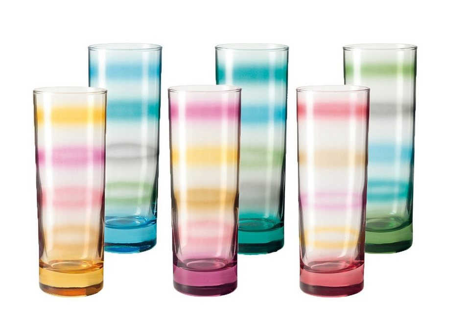 LEONARDO Becher-Set »Rainbow«, Glas in bunt