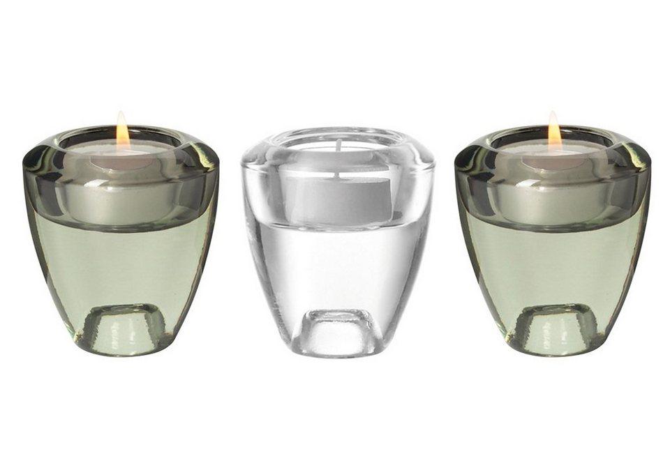 LEONARDO Leuchter-Set »Flick Flack«, Glas (3tlg.) in bunt