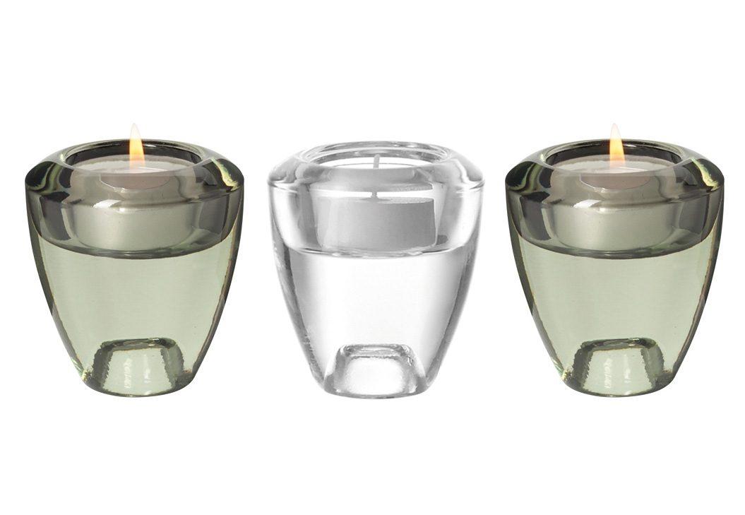 LEONARDO Leuchter-Set »Flick Flack«, Glas (3tlg.)