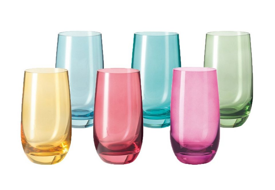 LEONARDO Becher-Set »Sora«, Glas in bunt