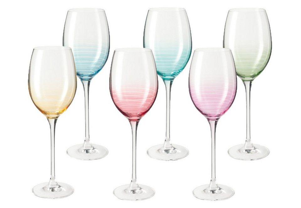 LEONARDO Weingläser-Set »Cheers«, Glas in bunt