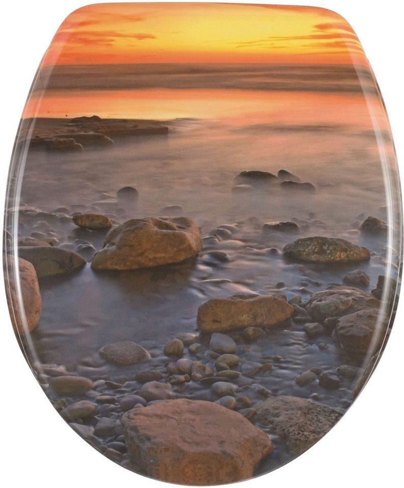 WENKO WC-Sitz Stone Shore in Mehrfarbig