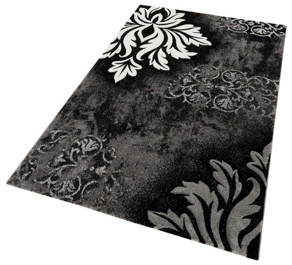 Orientteppich grau  Teppich, merinos, »DORDOGNE«, handgearbeiteter Konturenschnitt ...