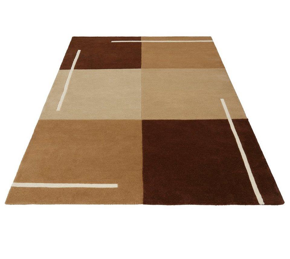 Teppich, Theko exklusiv, »Ottawa«, handgetuftet, reine Schurwolle in braun
