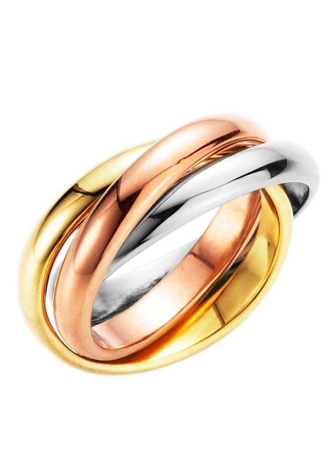 firetti Ring tricolor (3tlg.) in tricolor