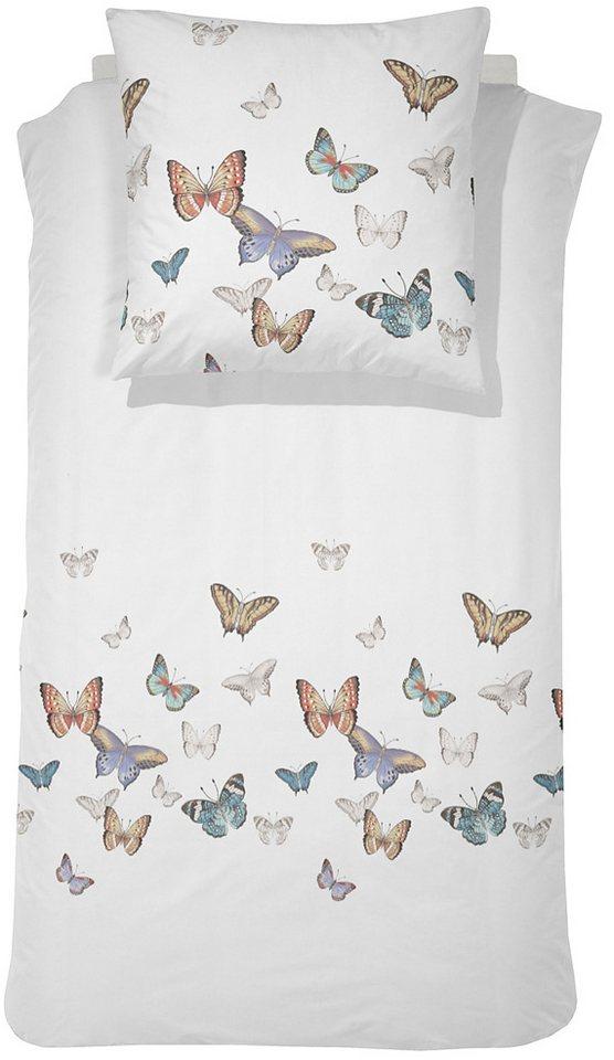 Bettwäsche, Cinderella, »Fontanys«, mit Schmetterlingen in weiß