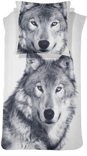 bettw sche wolf damai mit gro em tiermotiv otto. Black Bedroom Furniture Sets. Home Design Ideas