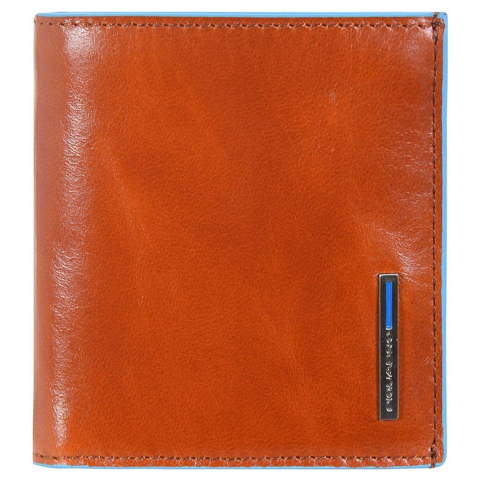 Piquadro Blue Square Geldbörse Leder 10,5 cm in orange
