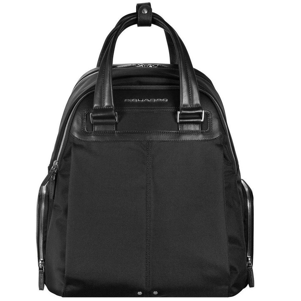 Piquadro Link Rucksack 42 cm Laptopfach in schwarz