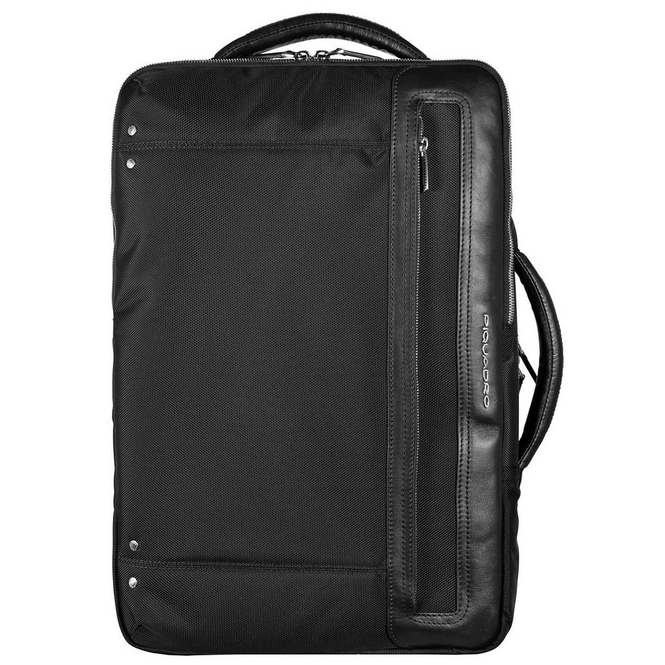 Piquadro Link Rucksack 46 cm Laptopfach in schwarz