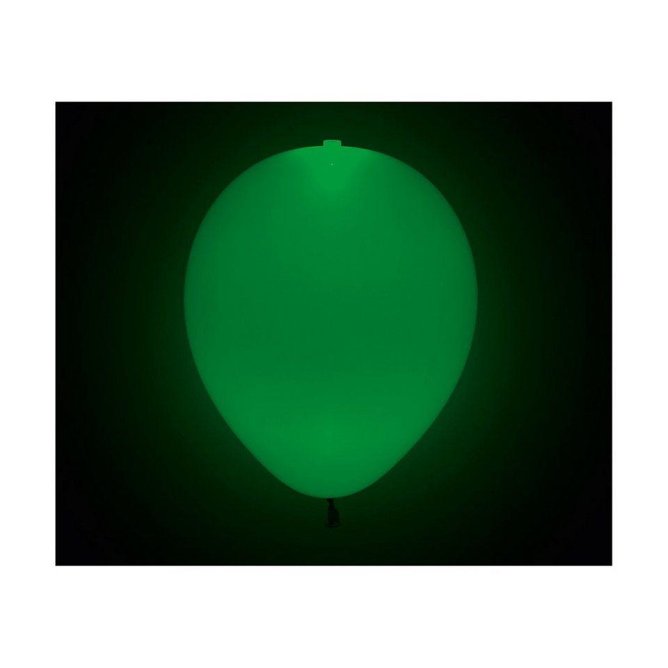Happy People LED Luftballons grün, 5 Stück