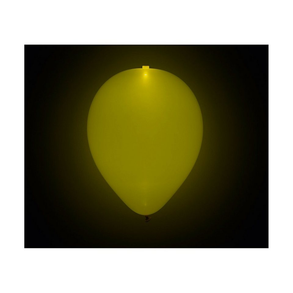 Happy People LED Luftballons gelb, 5 Stück