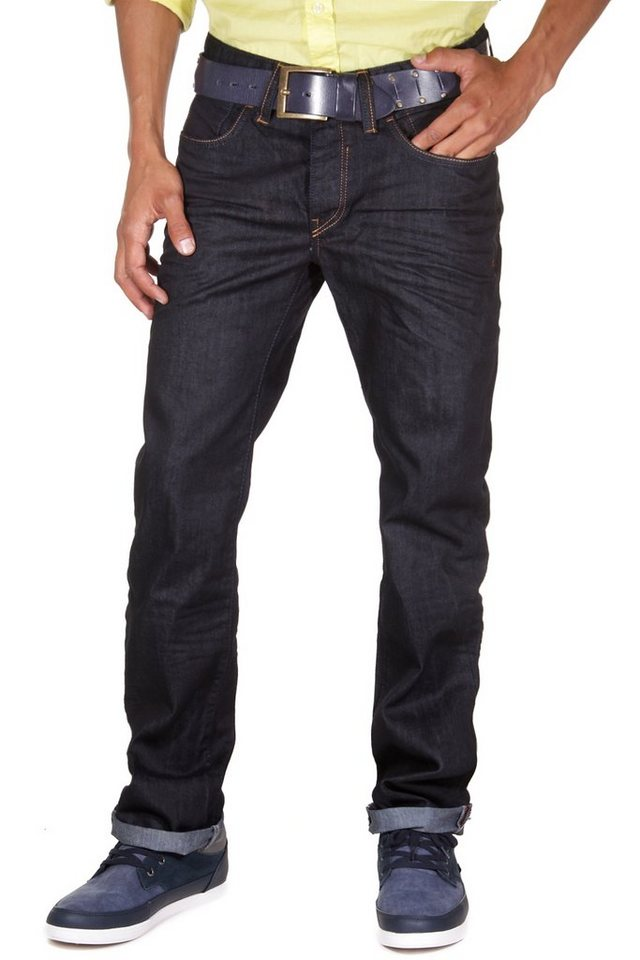 R-NEAL Jeans straight fit in schwarz