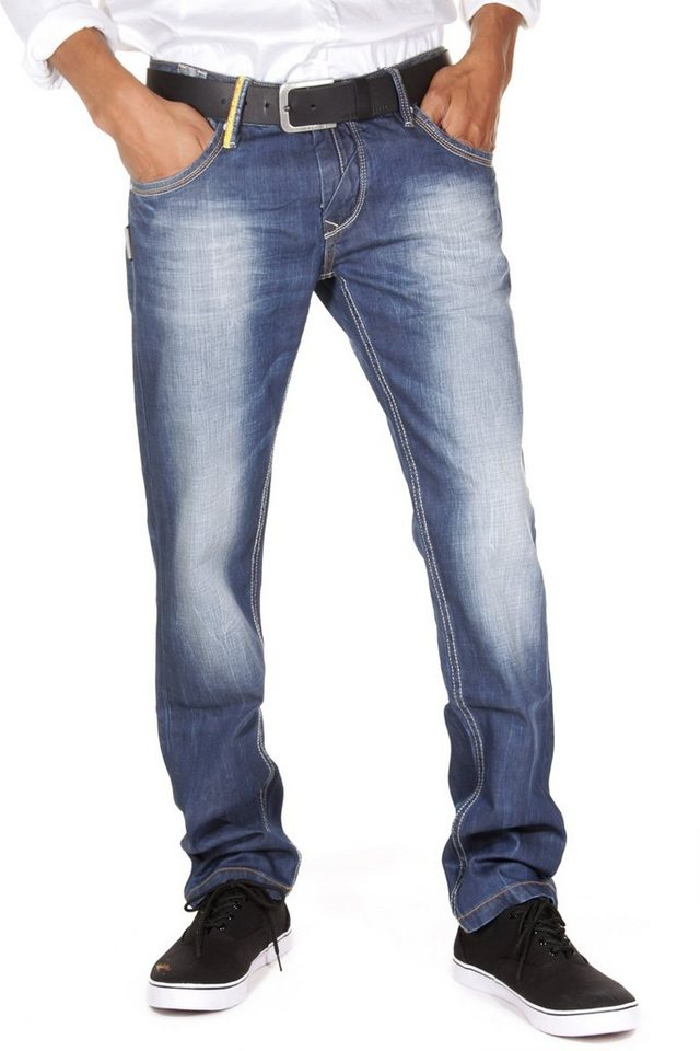 R-NEAL Jeans Regular Fit in dunkelblau