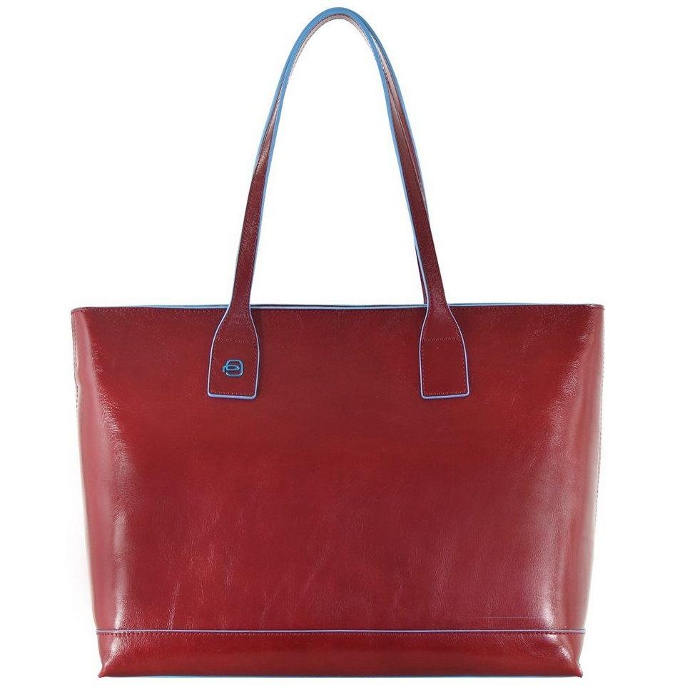Piquadro Blue Square Shopper Tasche Leder 35 cm in rot