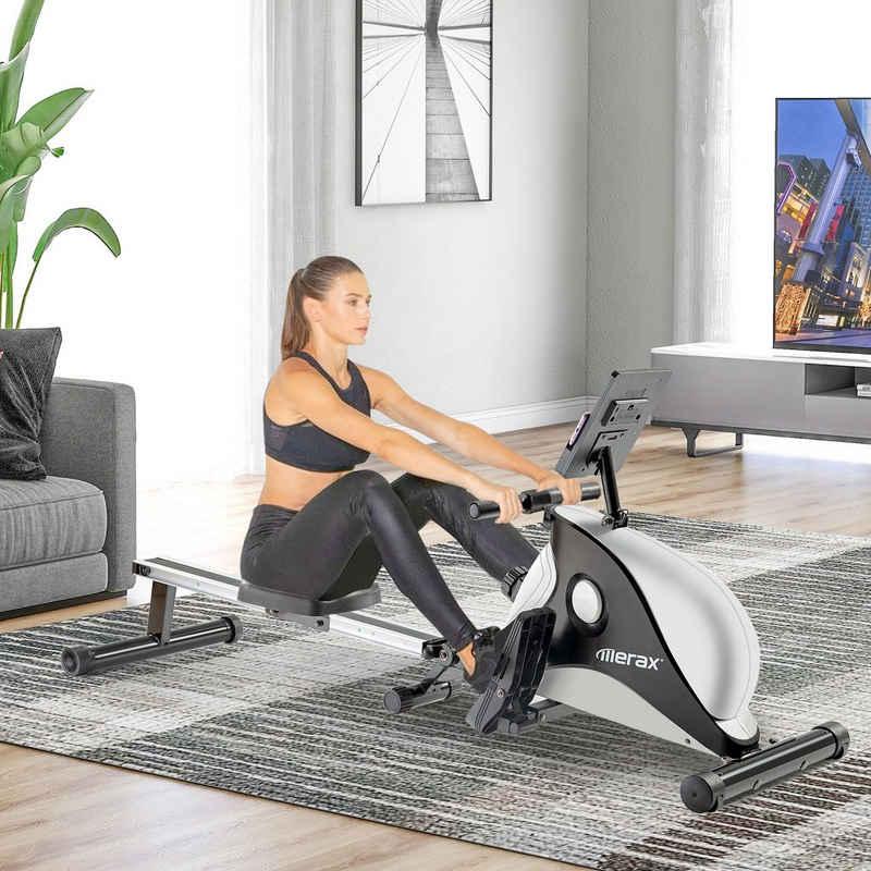 Merax Rudergerät »Brizo«, klappbar mit leisem 8-stufigem Magnetwiderstand mit LCD-Monitor und 4 KG Schwungradmasse