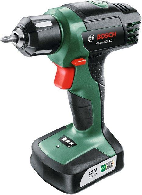 BOSCH Akku-Bohrschrauber »EasyDrill 12«, 12 V, inkl. Ladegerät & Schrauberbit | Baumarkt > Werkzeug > Bohrer und Schrauber | Bosch